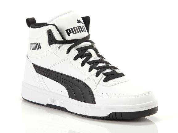 PUMA Rebound JOY Sneakers in White/Black - 374765-02