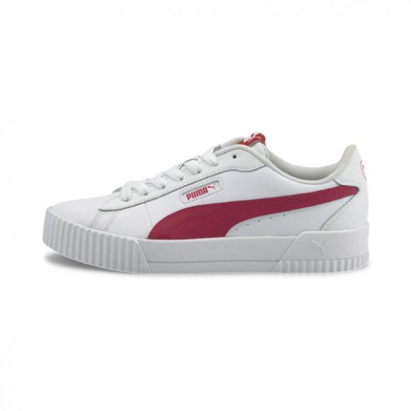 PUMA Carina Crew Women's Sneakers in White/Virtual Pink - 374903-04