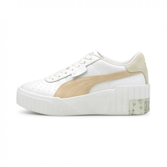 PUMA Cali Wedge In Bloom Women's Sneakers in White/Cloud Pink - 374952-01