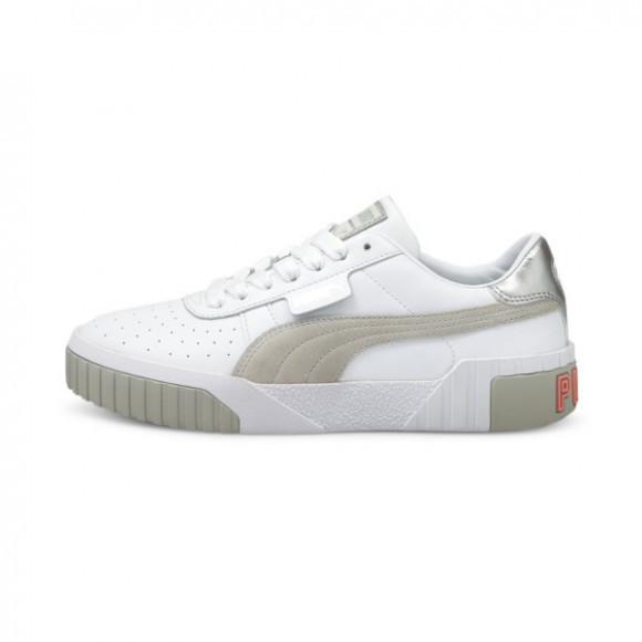 PUMA Cali Soft Glow Women's Sneakers in White/Grey/Violet - 375046-01