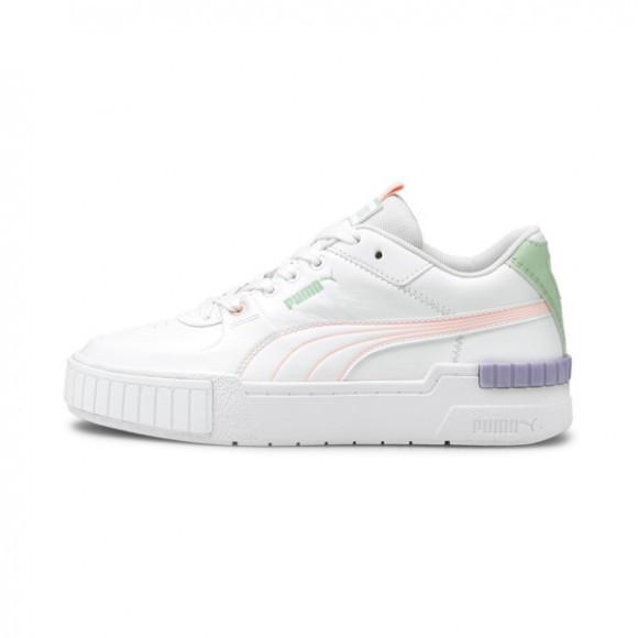 PUMA Cali Sport Pastel Mix Women's Sneakers in White/Elektro Peach - 375051-01