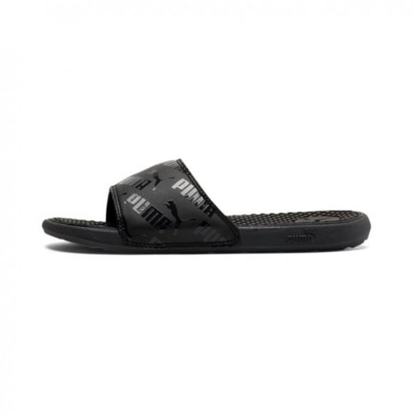 PUMA Cool Cat Bold Boys' Slides JR in Black, Size 7 - 375394-01