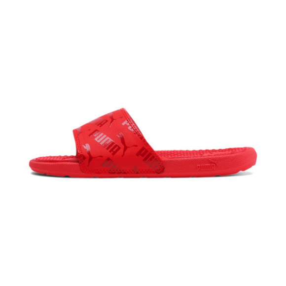 PUMA Cool Cat Bold Boys' Slides JR in High Risk Red - 375394-02