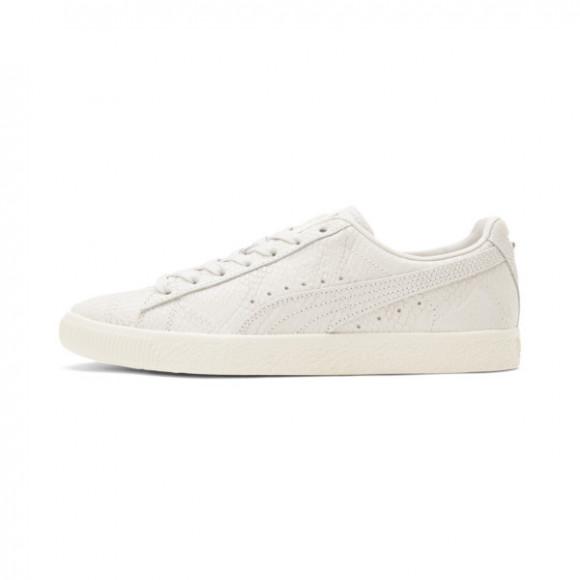 PUMA Clyde Snake Women's Sneakers in Vgrey/Marshmallow/Psilver - 375557-01