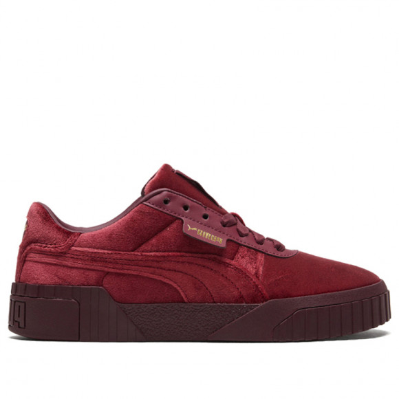 PUMA Cali Velour Women's Sneakers in Burgundy/Team Gold - 375837-01