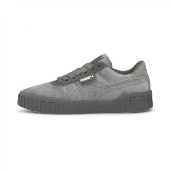 PUMA Cali Velour Women's Sneakers in Ultra Grey/Team Gold - 375837-02