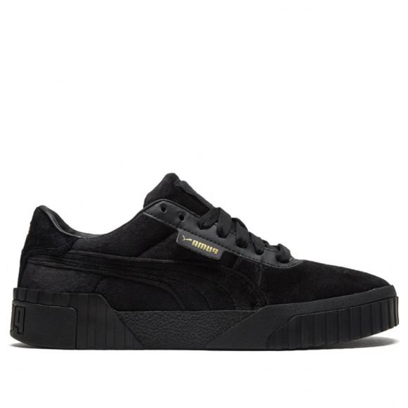 PUMA Cali Velour Women's Sneakers in Black/Team Gold - 375837-03
