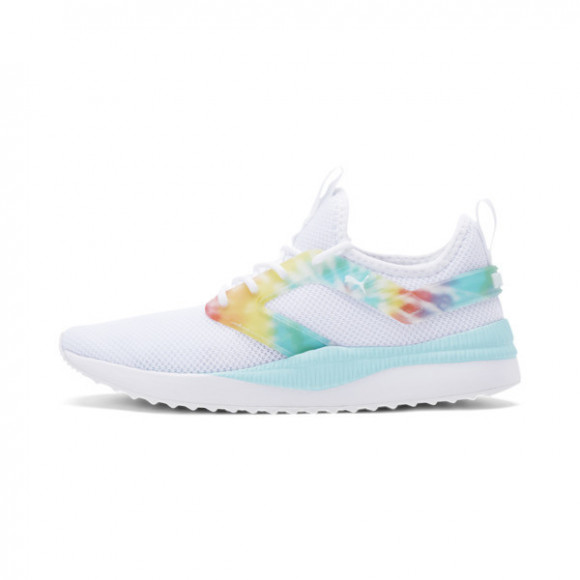 PUMA Pacer Next Excel Tie Dye Women's Training Shoes in White/Gulf Stream - 375896-01