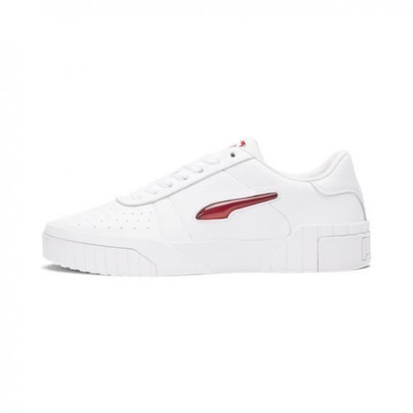 PUMA Cali Twist Jewel Women's Sneakers in White/Red Dahlia/P Black - 375929-01