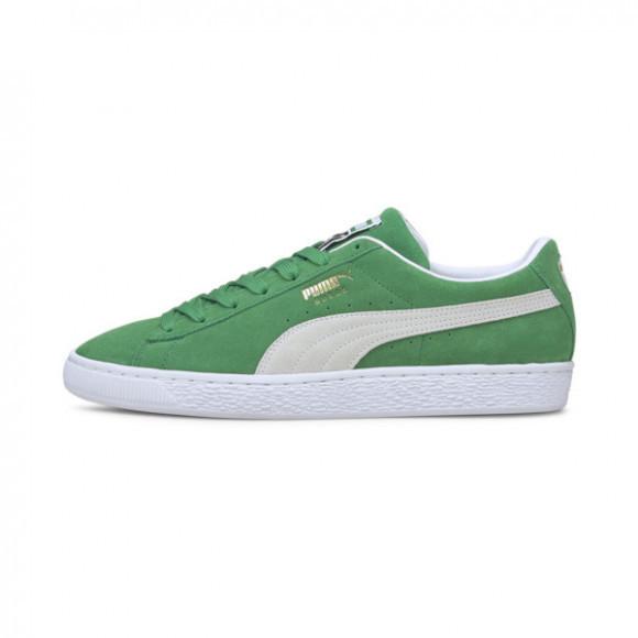 PUMA Suede Teams Men's Sneakers in Amazon Green/White - 380168-02