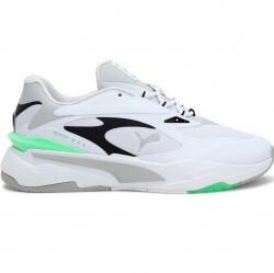 PUMA RS-Fast Tech Men's Sneakers in White/G.violet/Elektro Green - 380191-03
