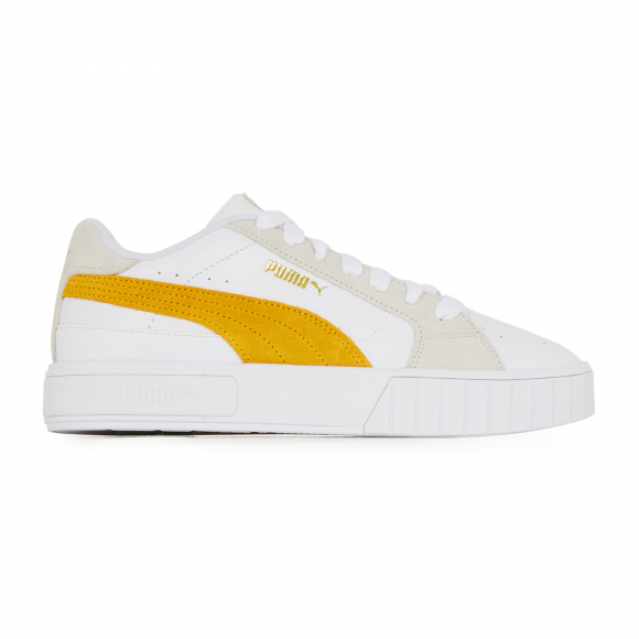 PUMA Cali Star Women's Sneakers in White/Mineral Yellow/Vaporous Grey - 380220-09
