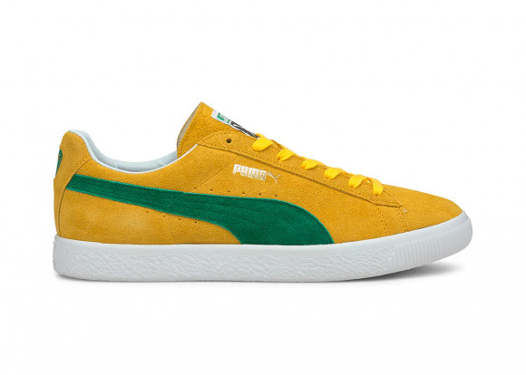 PUMA Suede Vintage MIJ Retro Men's Sneakers in Spectra Yellow/Amazon Green - 380537-03