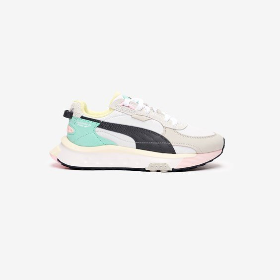 PUMA Wild Rider Layers Sneakers in White/Ebony - 380697-03