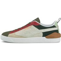 Puma Suede Bloc Wtformstripe, Grape Leaf-Puma White - 381184-02