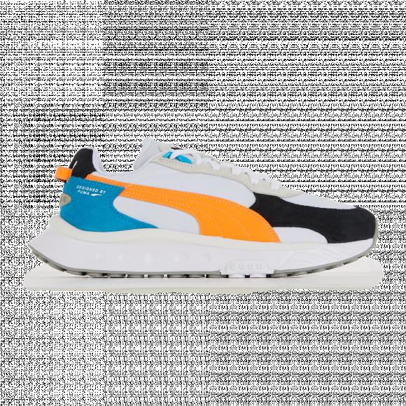 PUMA Wild Rider Rollin' Sneakers in White/Orange Glow - 381517-03