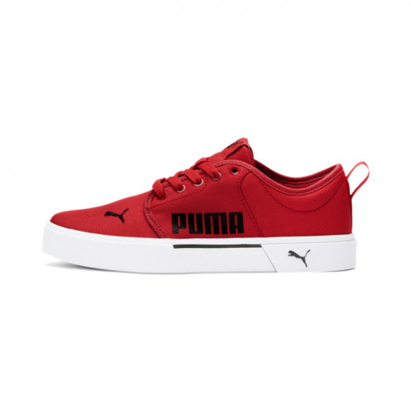 PUMA El Rey Lace Shoes JR in High Risk Red/Black - 381546-02