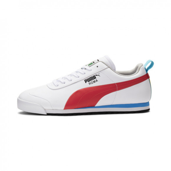 PUMA Roma Game Sneakers in White/High Risk Red/Black - 381688-01
