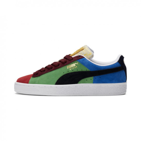 PUMA Suede Classix Sneakers JR in Hg Rsk Red/Hy Mtd/Kl Gn - 381774-02