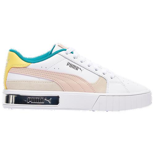 PUMA Cali Star - Women's Tennis Shoes - White / Yellow / Gray - 38182801