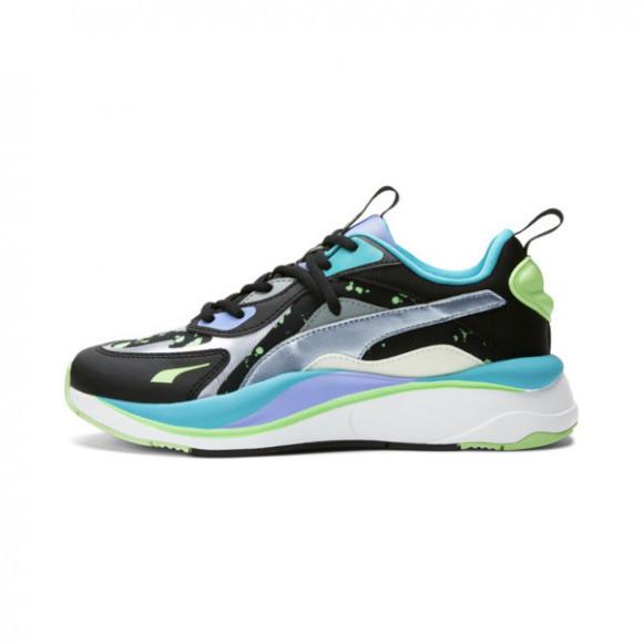 PUMA RS-Curve GID Women's Sneakers in Black/Silver/Elektro Green - 381931-01