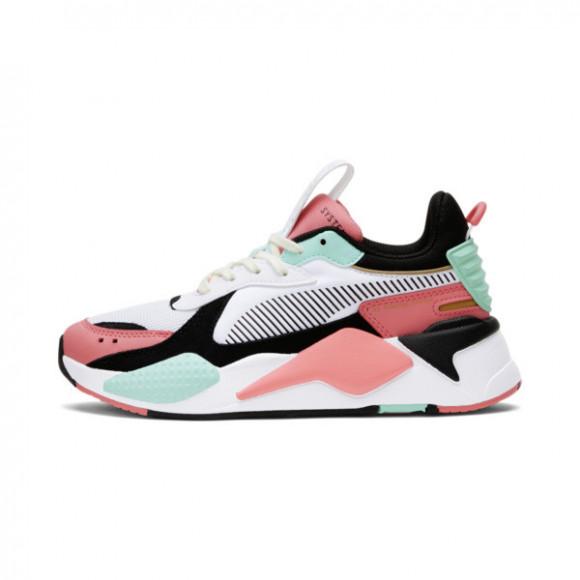 PUMA RS-X Spring Sneakers JR in Puma Wt/Sn Kisd Coral/Arba Bl - 381959-01