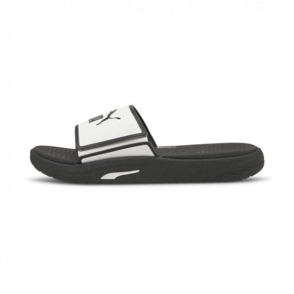 PUMA Softride Men's Slides in White/Black - 382111-05