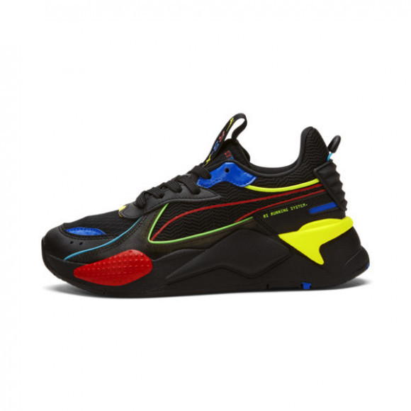 PUMA RS-X Hynoptic Sneakers JR in Black/High Risk Red/Blue - 382127-01