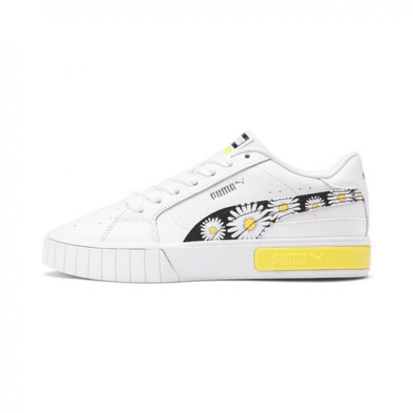 PUMA Cali Star Daisies Women's Sneakers in White/Black/Celandine - 382316-01