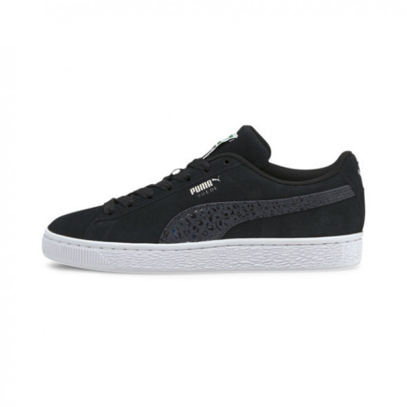 PUMA Suede Iri Wild Women's Sneakers in Black/White - 382567-03