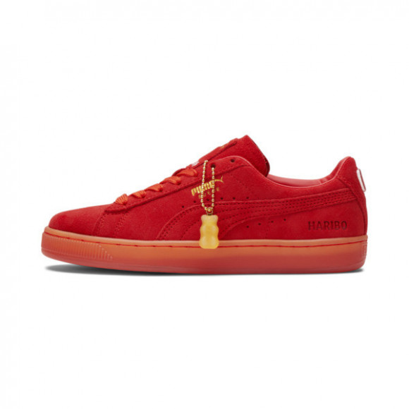 PUMA x HARIBO Suede JR Shoes in Poppy Red/Poppy Red - 382854-01