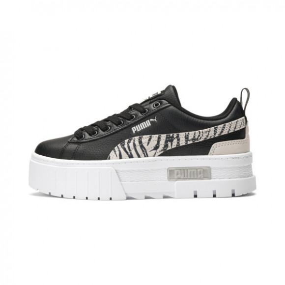 PUMA Mayze Zebra Sneakers JR in Black/Silver/Ivory Glow - 383225-01