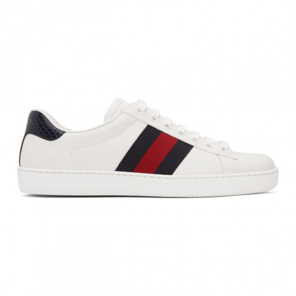 Gucci White Ace Sneakers - 386750-02JR0