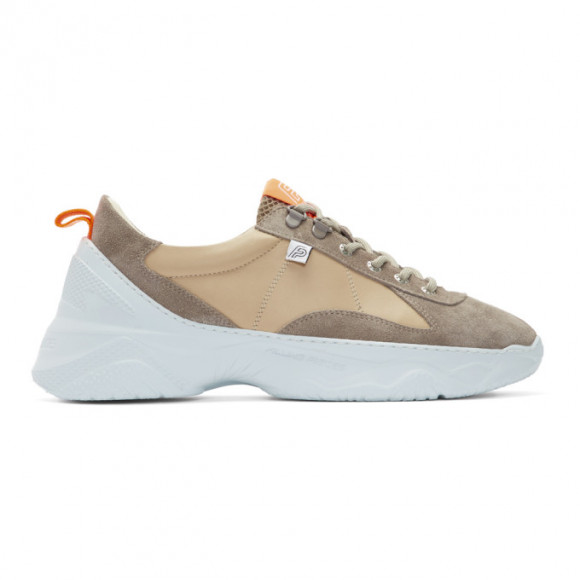 Filling Pieces Beige and Grey Low Meno Shuttle Sneakers - 3912765