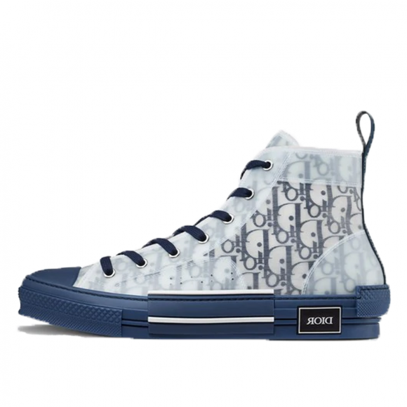 Dior B23 High Top Blue Oblique - 3SH118YNT_H565