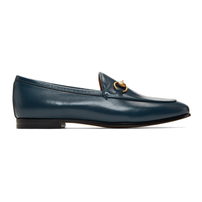 Gucci Blue Jordaan Loafers - 404069 C9D00