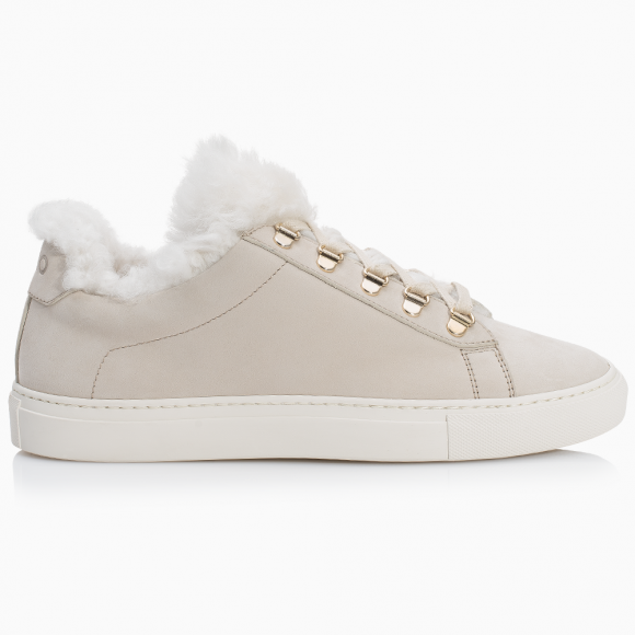 KOIO Women's Cloud Shearling Cream Leather White Fur Gavia 5 (US) / 35 (EU) - 407081582628