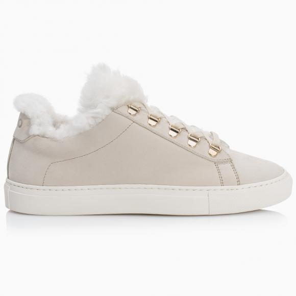 KOIO Women's Cloud Shearling Cream Leather White Fur Gavia 5 (US) / 35 (EU) - 407081582628