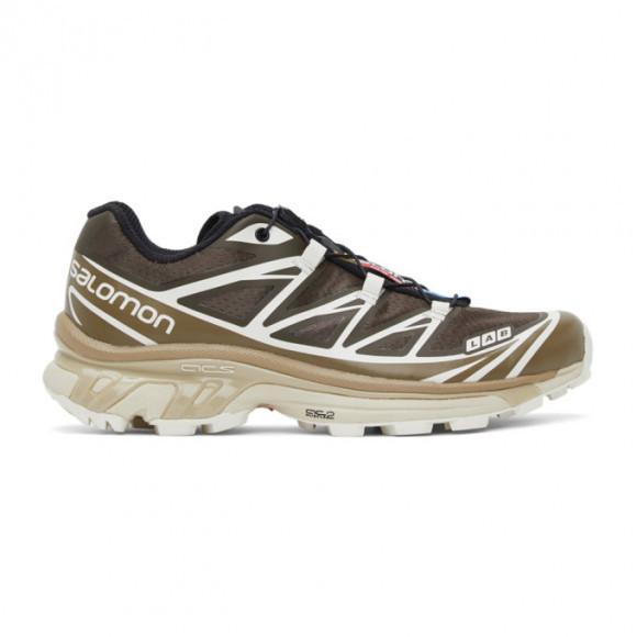 Salomon Brown and Beige XT-6 Advanced Sneakers - 413950