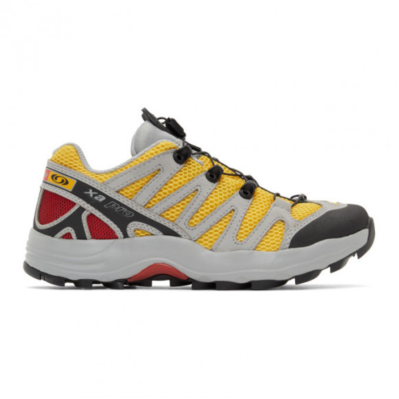 Salomon Grey and Blue XA-Pro Fusion Advanced Sneakers - 414820