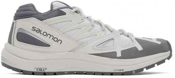 Salomon Grey & White Odyssey 1 Advanced Sneakers - 415415