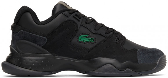Lacoste Black Leather & Suede T-Point Sneakers - 41SMA0101