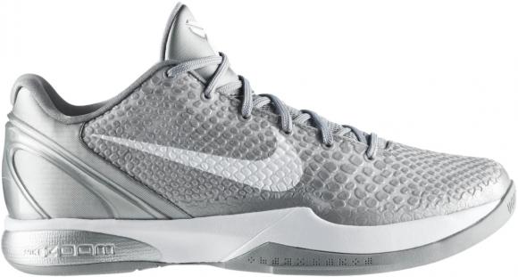 Nike Kobe 6 Metallic Silver Metallic Silver White - 429659-012