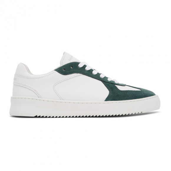 Filling Pieces White and Green Field Ripple Pine Sneakers - 43728011910
