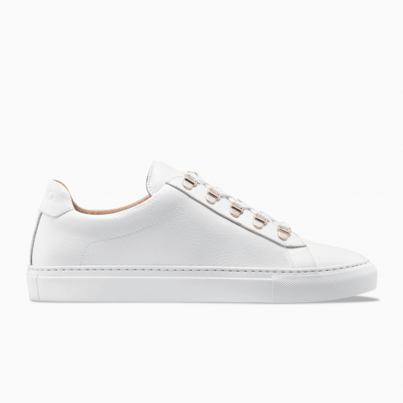 KOIO Men's Low Top Bianco White Rose Gold Leather Gavia 10 (US) / 43 (EU) - 4399685190