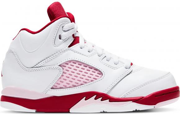 Jordan 5 Retro White Pink Red (PS) - 440893-106