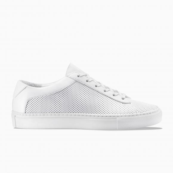 KOIO | Capri Triple White Perforated Women's Sneaker 9 (US) / 39 (EU) - 4466179014692