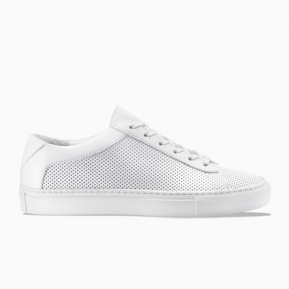 KOIO | Capri Triple White Perforated Men's Sneaker 14 (US) / 47 (EU) - 4466195595300
