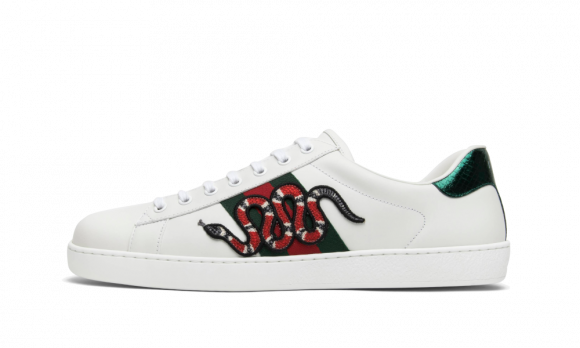 Gucci Ace Embroidered Snake - 456230-A38G0-9075