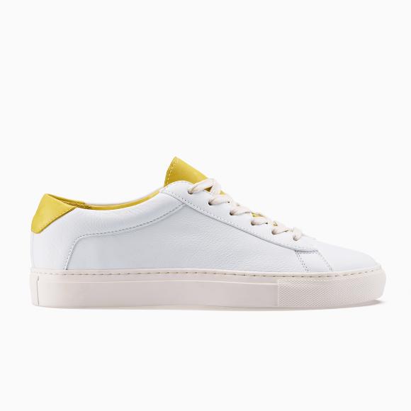 KOIO   Capri White Yellow Men's Sneaker 13 (US) / 46 (EU) - 4581150949412